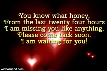 I Am Waiting For You Please Come Back Quotes 61015 Usbdata