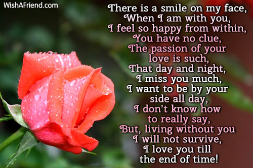 I Smile When Im With You Romantic Poem