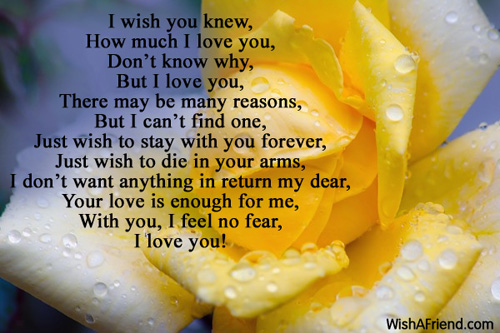 Unconditional Love Romantic Poem