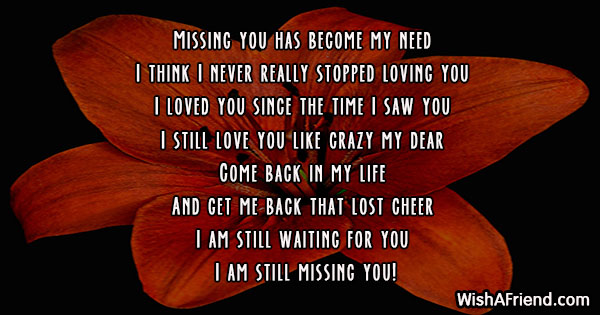 Missing You Messages For Ex-Boyfriend - Page 2