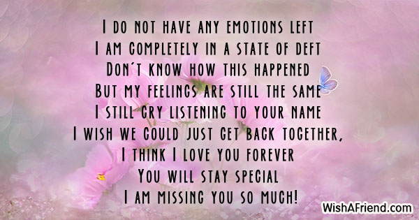 Missing You Messages For Ex-Boyfriend