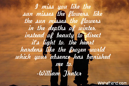 I Miss You Like The Sun Missing You Quote