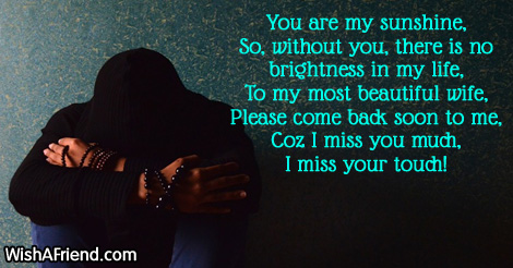 Missing You Messages For Wife