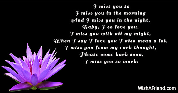 I miss you so much my love poem