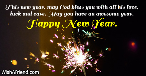 god new year saying