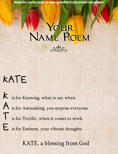 Name Rhyme - The Meaning Of The Name