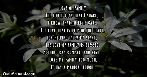 Love of family , Family Poem