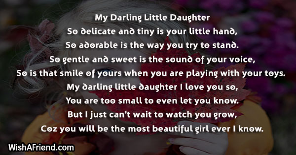 Poems For Daughter