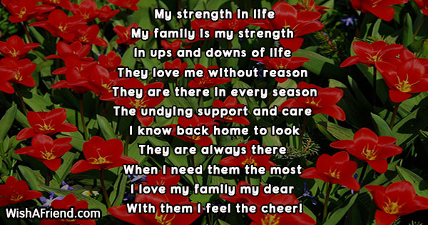 My Strength In Life Poem About Family