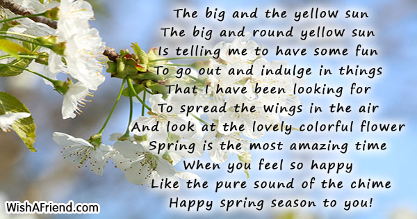 Image result for Happy Spring poem
