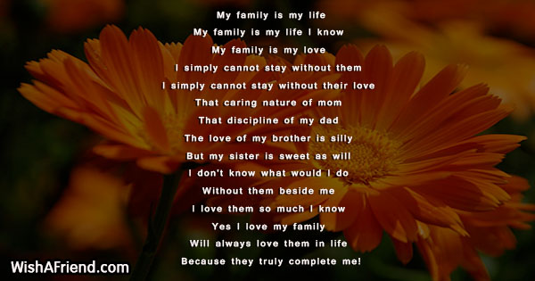 My Family Is My Life Family Poem