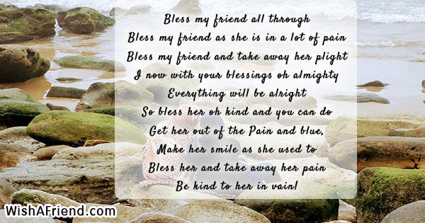 Bless my friend all through Bless, Prayers For Friends