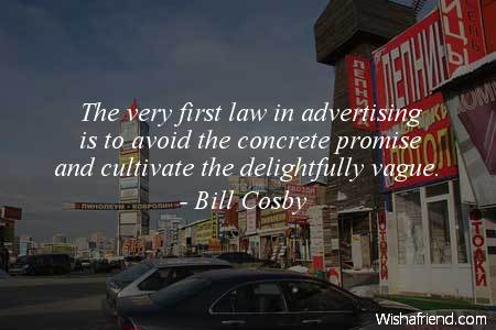 advertising-The very first law in