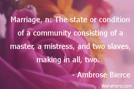 anniversary-Marriage, n: The state or