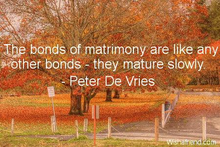 anniversary-The bonds of matrimony are