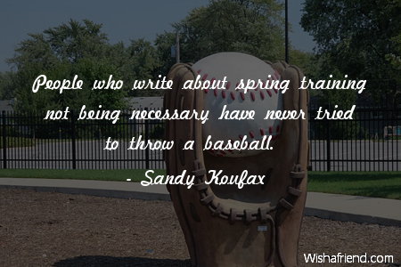 baseball-People who write about spring