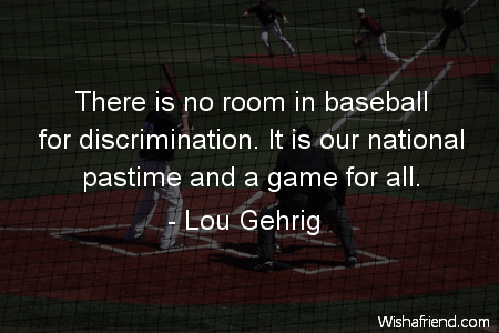 baseball-There is no room in