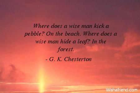 beach-Where does a wise man