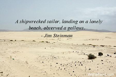 beach-A shipwrecked sailor, landing on