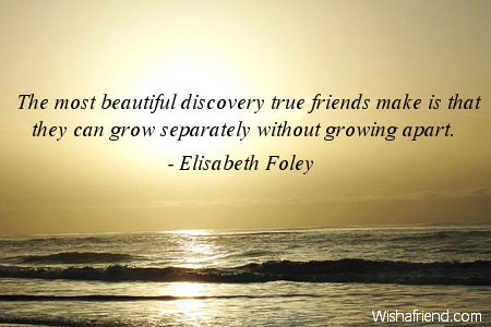 elisabeth foley quote the most beautiful discovery true friends