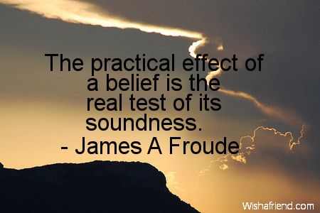 belief-The practical effect of a