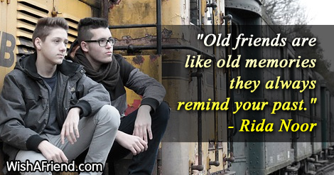 Rida Noor Quote: Old friends are like old memories they always