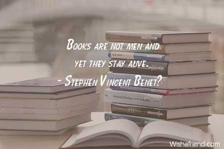 books-Books are not men and