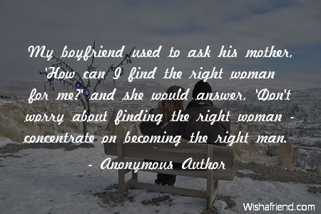 Anonymous Author Quote My Boyfriend Used To Ask His Mother How