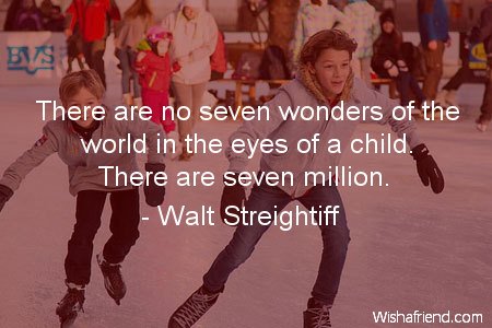 children-There are no seven wonders