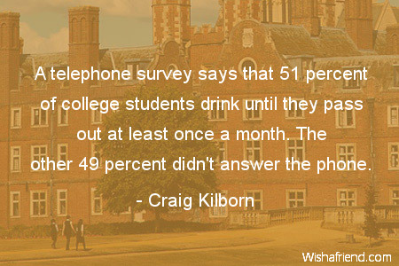 college-A telephone survey says that