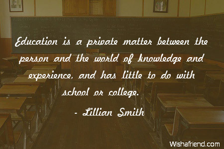 college-Education is a private matter