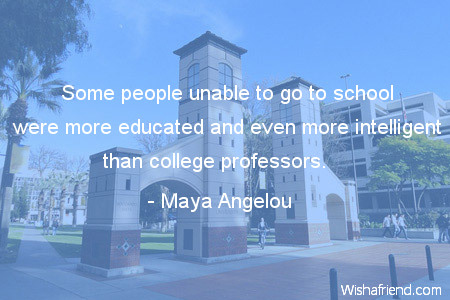 college-Some people unable to go