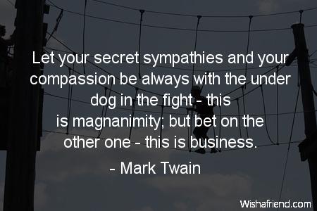 compassion-Let your secret sympathies and