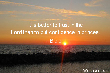confidence-It is better to trust