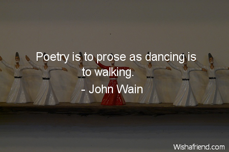 dancing-Poetry is to prose as