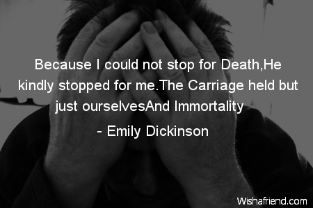 stop for death emily dickinson