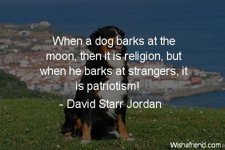 dog-When a dog barks at