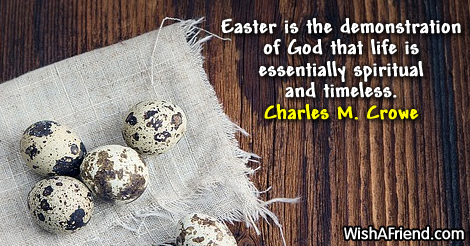 easter-Easter is the demonstration of
