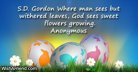 easter-S.D. Gordon Where man sees