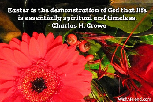 Charles M Crowe Quote Easter Is The Demonstration Of God That Life