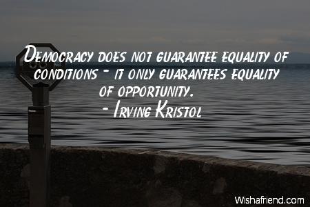 equality-Democracy does not guarantee equality