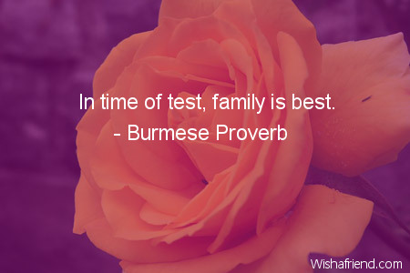 family-In time of test, family