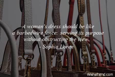 fashion-A woman's dress should be