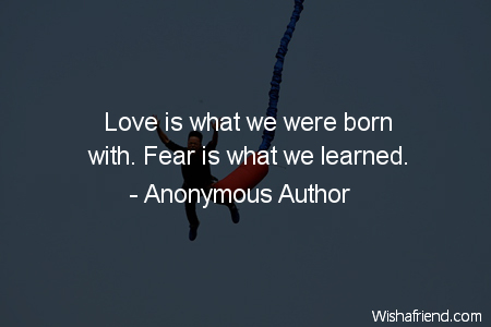 fear-Love is what we were