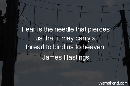 fear-Fear is the needle that