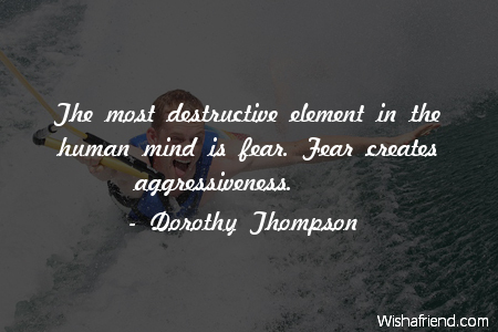 fear-The most destructive element in