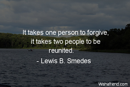 forgiveness-It takes one person to