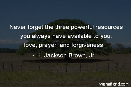 forgiveness-Never forget the three powerful