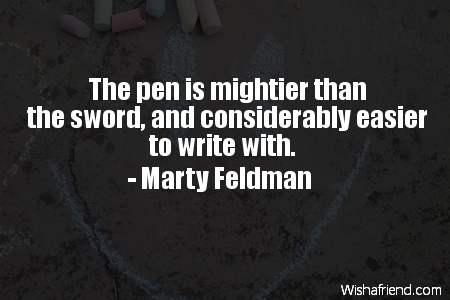 funny-The pen is mightier than