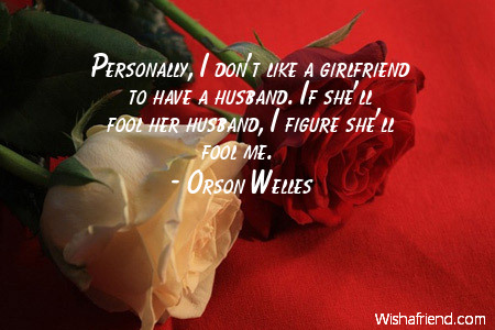 girlfriend-Personally, I don't like a